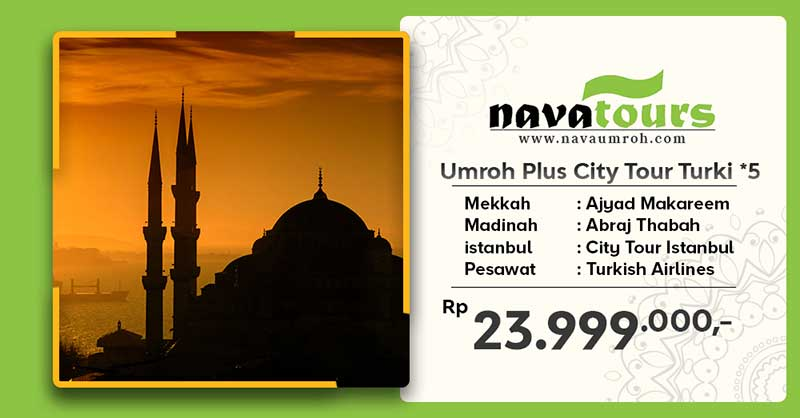 umroh plus city tour trk bnt 5 nava tour