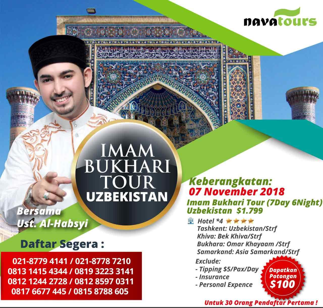 paket wisata uzbekistan - imam bukhori tour - nava tour