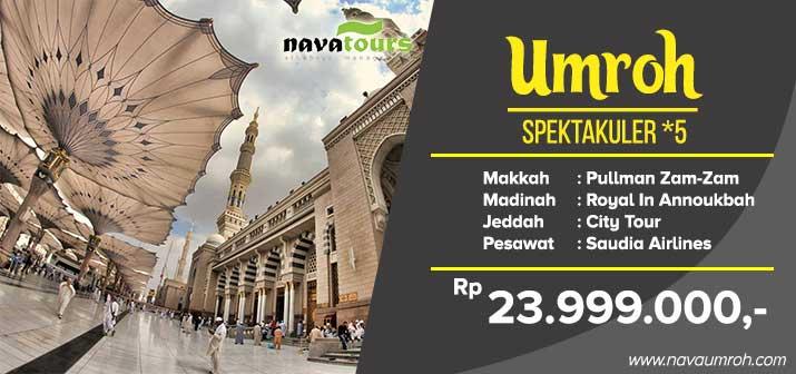 Umroh murah 2019 Jakarta super promo bintang 5 Nava Tour